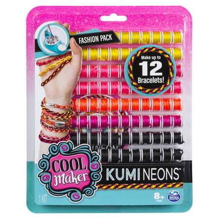 Cool Maker - KumiNeons Fashion Pack, Makes Up to 12 Bracelets with the KumiKreator, for Ages 8 and