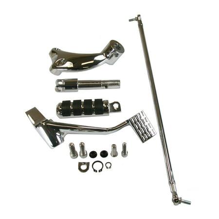 Chrome Forward Control - Raider, KIT-6050-BRAKE, Chrome Forward Controls Brake Side Only 2004-2013 Harley XL Sportster models