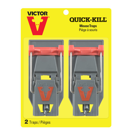 Victor Quick-Kill Mouse Traps, 2 count