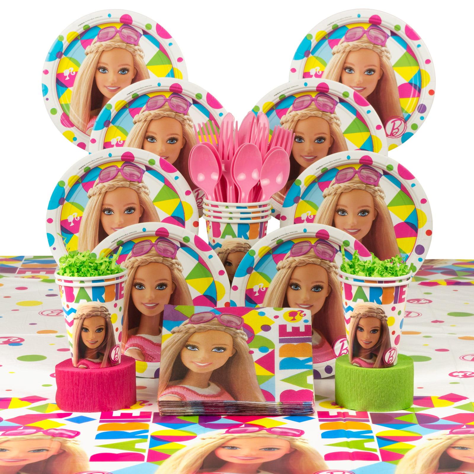 Barbie Sparkle Birthday Party Deluxe Tableware Kit (serves 8)