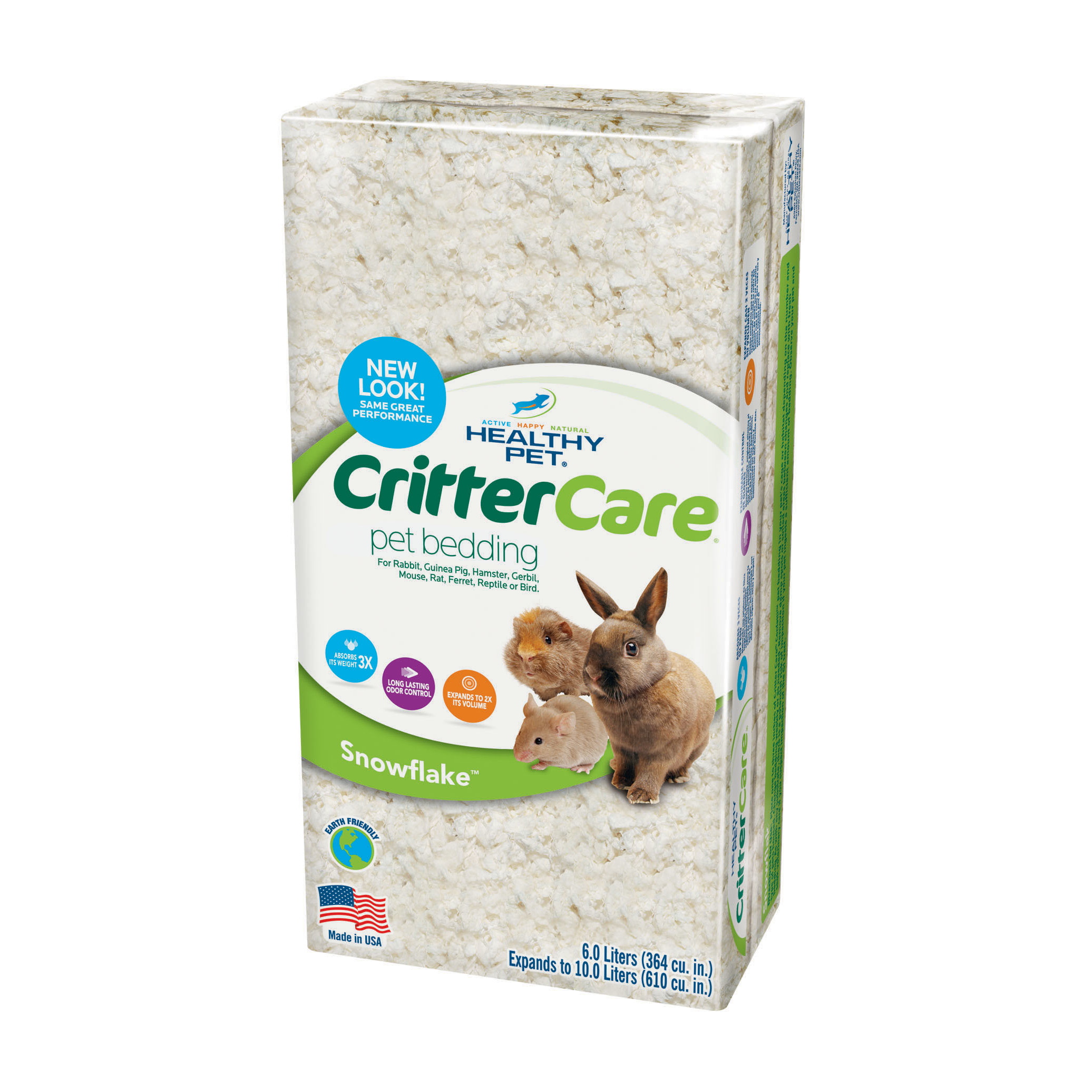 Healthy Pet CritterCare Snowflake Bedding, 10L