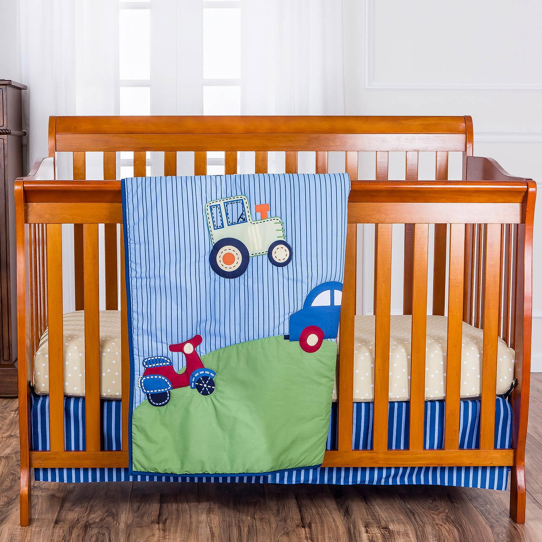 Dream On Me Travel Time 3 Piece Reversible Full Size Crib Set