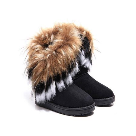 - Meigar Women Winter Snow Boots Ankle Boots Warm Fur Lady Shoes