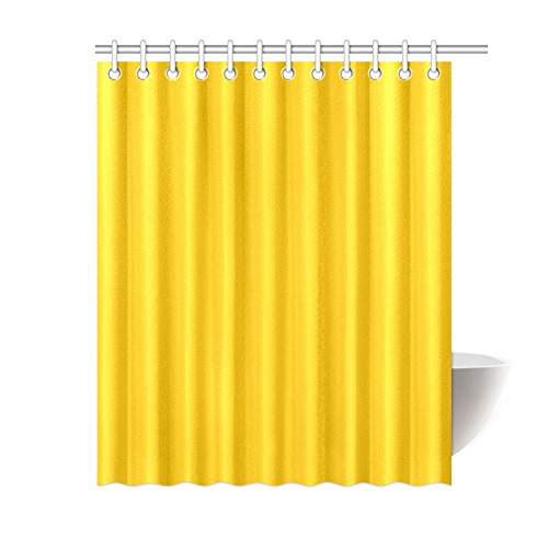 MKHERT Modern Minimalist Solid Yellow Polyester Fabric Bathroom Shower Curtain 60x72 inch