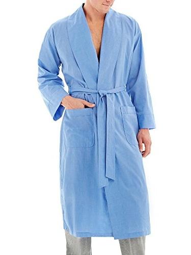Hanes Classics Big Mens Light Weight Shawl Collar Robe (Blue 5/6X)
