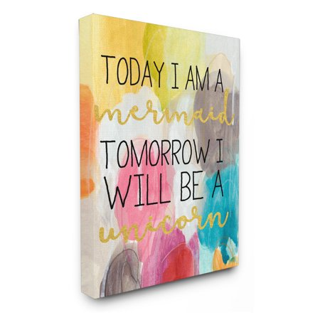 The Stupell Home Decor Collection Today Mermaid Tomorrow Unicorn