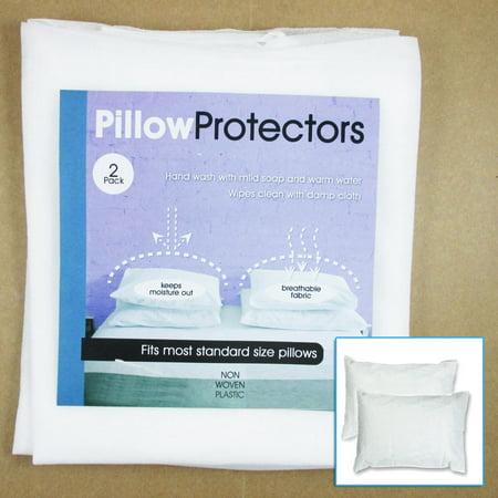 Set Of 2 Pillow Protector Cover Standard Size Pillowcase Soft Fabric Bedding - Pillowcase Net