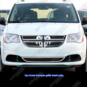APS Compatible with 2011-2020 Dodge Grand Caravan Lower Bumper Stainless Steel Black Mesh Grille Insert D76867C