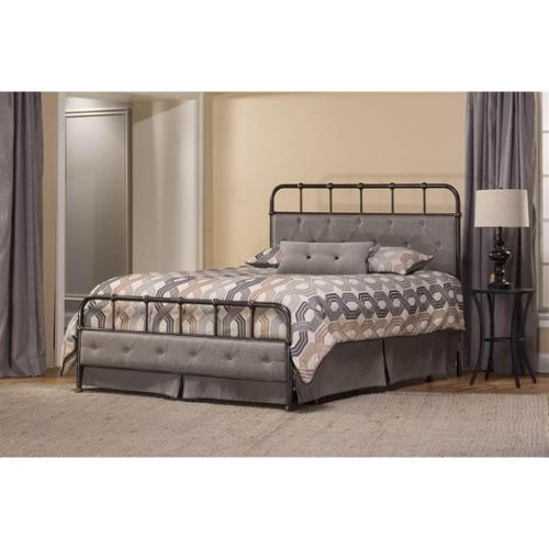 Contemporary Bed in Rubbed Black (Full: 71.25 in. L x 53.75 in. W x 52.5 in. H)