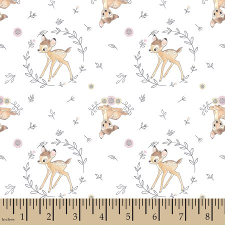 Disney Fashon Trend Framed Bambi Cotton Fabric by the yard](Wholesale Disney Fabric)