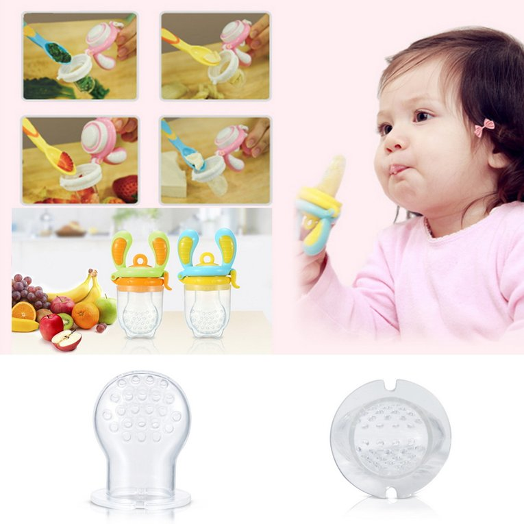 New Safe Baby Fresh Food Fruit Juice Milk Silicone Baby Feeder Feeding Tool