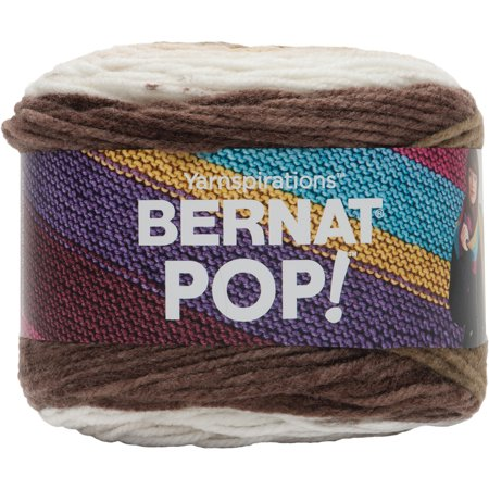 Bernat Acrylic Pop Hot Chocolate Yarn, 1 -