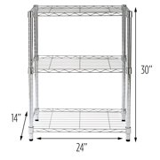 Honey Can Do 3-Tier Adjustable Shelving Unit with 250-lb Weight Capacity, Chrome
