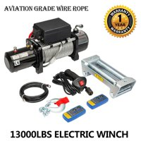 product image ktaxon classic 13000lbs 12v electric recovery winch truck suv  2 pcs wireless remote