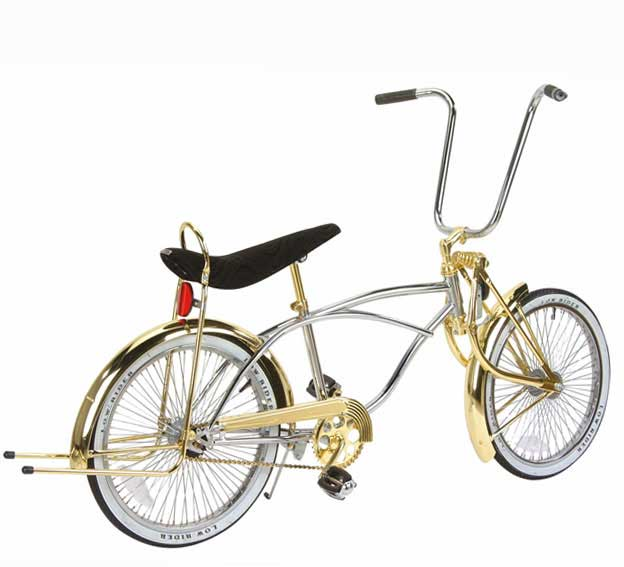 "20"" Lowrider Bike, Chrome & Gold"