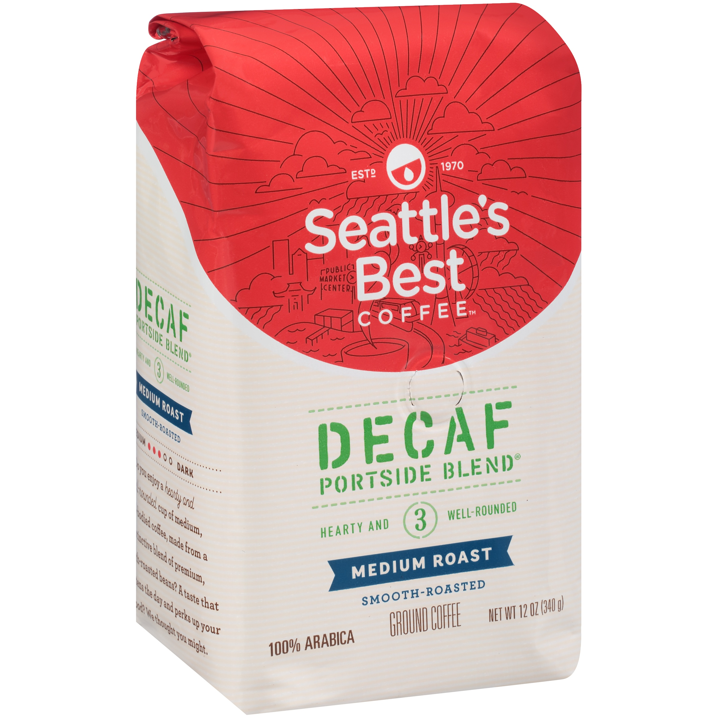 Seattle's Best Coffee Medium & Balanced Decaf Signature Blend No. 3 Ground Coffee 12 oz. Bag