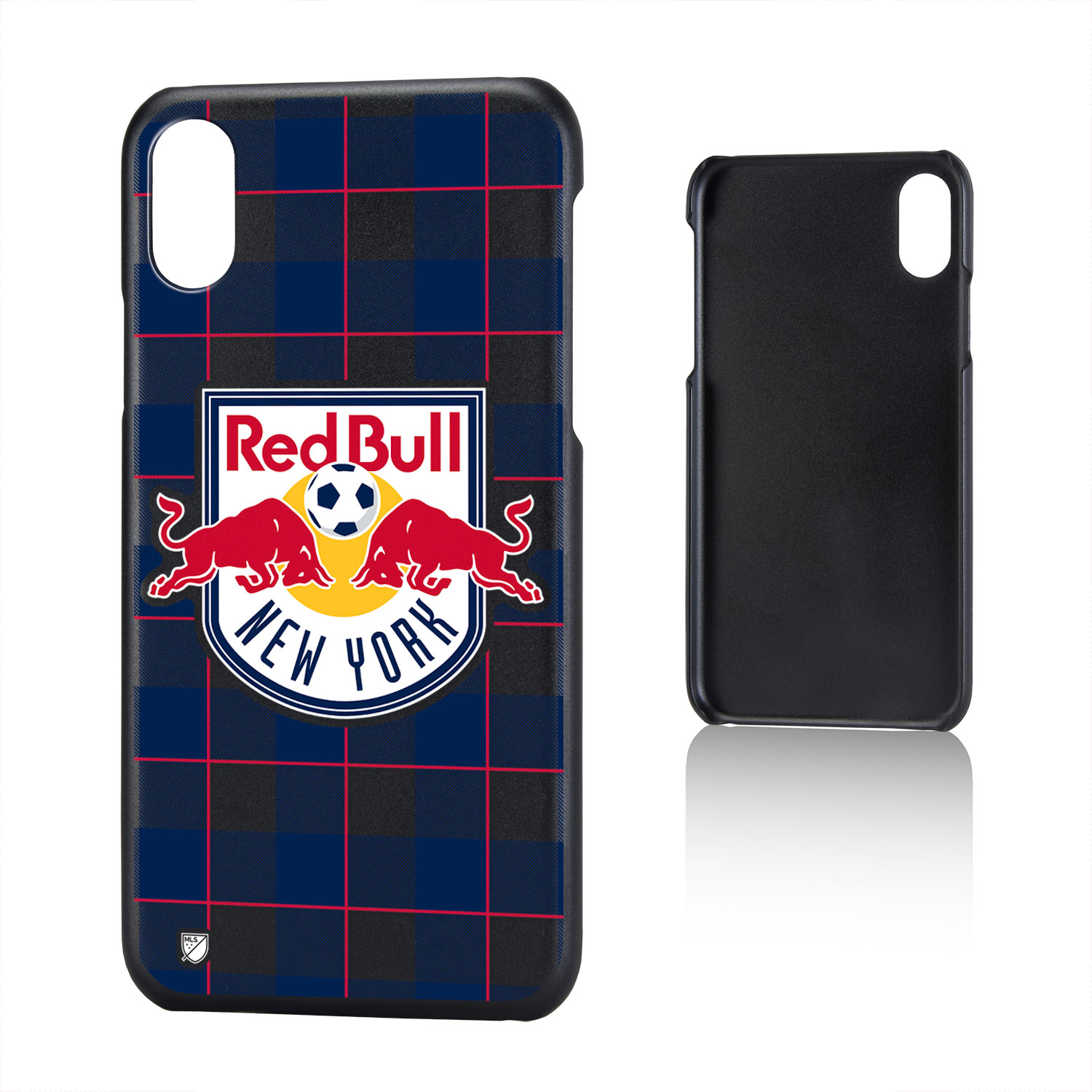 New York Red Bulls RED BULLS Plaid Slim Case for iPhone X