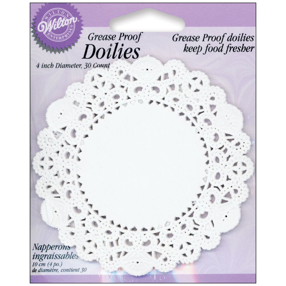Greaseproof Doilies, White