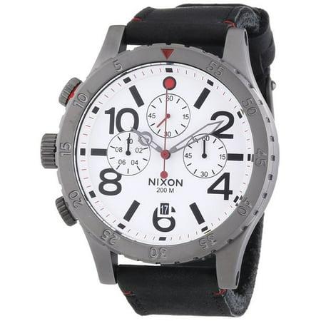 Nixon 48 20 Chrono Leather Mens Watch A363486