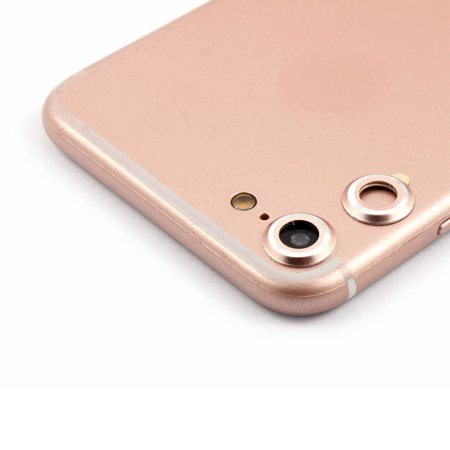 Back Camera Metal Lens Protective Cover Protector Rose Gold 2 PCS for iPhone 7 - image 1 of 1