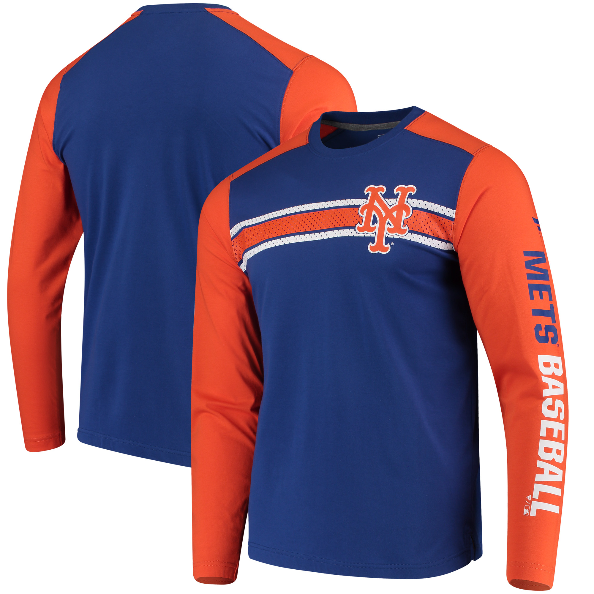 New York Mets Fanatics Branded Iconic Long Sleeve T-Shirt - Royal
