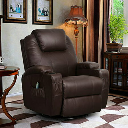 U-MAX PU Leather Massage Recliner Chair With Heated Option Control Ergonomic Executive Lounge