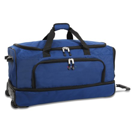 J World Piton 30 in. Drop Bottom Rolling Duffel Bag