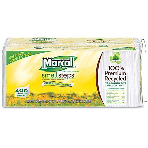 Marcal Small Steps 100 Percent  Recycled Convenience Bundle Bathroom Tissue, 4 sheets, 6 ct