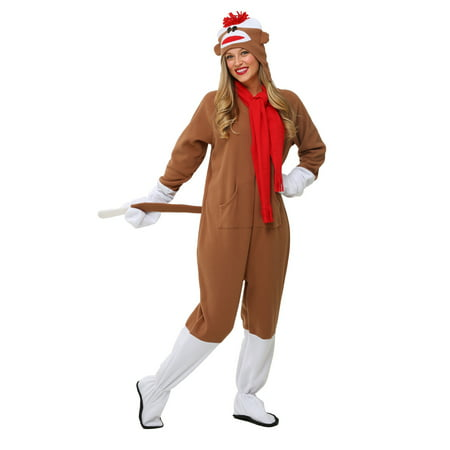 Adult Sock Monkey Costume (Women's Monkey Costume)