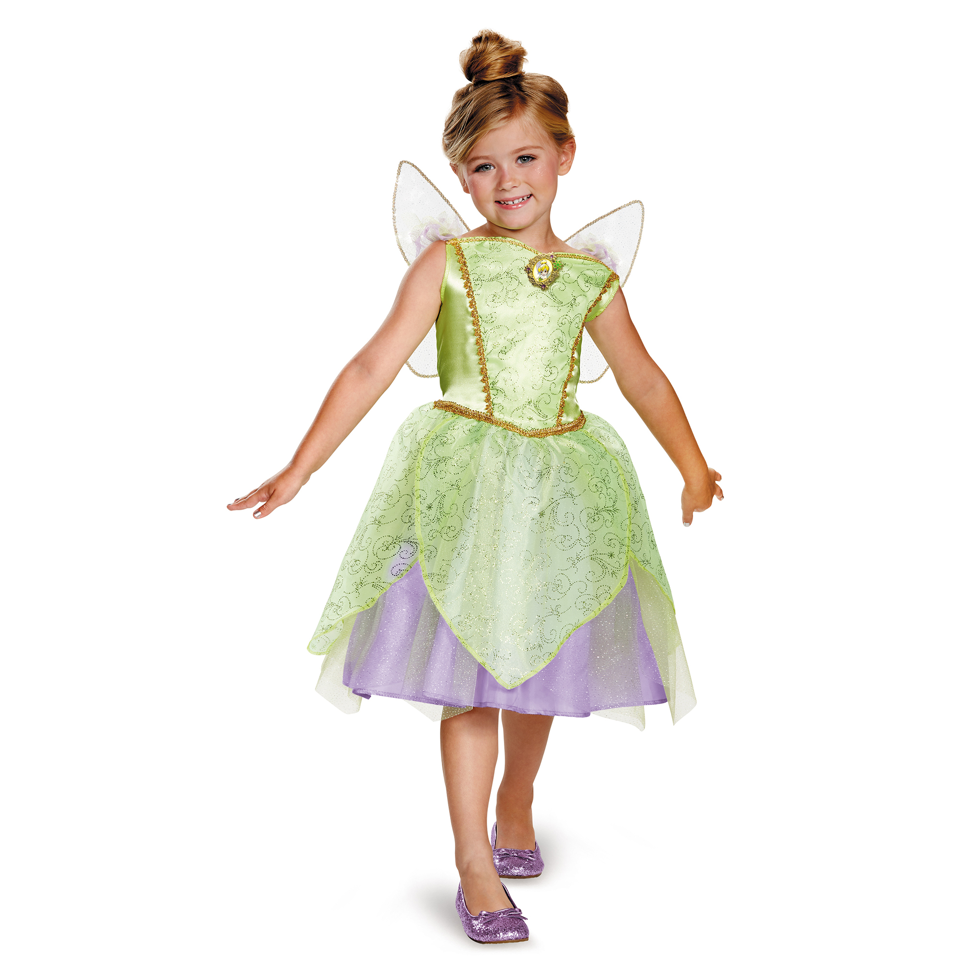 Girlsu0027 Tinker Bell Classic Costume  sc 1 st  Walmart & Tinkerbell Costumes