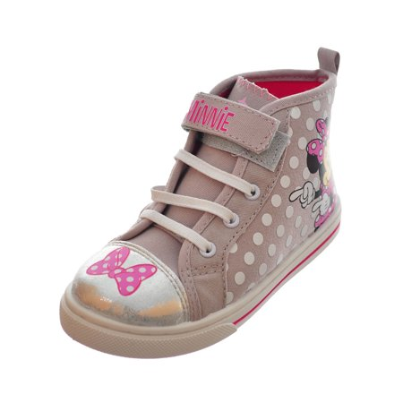 Disney Minnie Mouse Girls' Hi-Top Sneakers (Sizes 7 - 12)](Girls Disney Shoes)