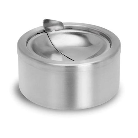 Blomus Patty Ashtray with Dump Lid, 12 cm Stainless Steel Modern Living Room