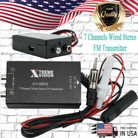 Xtremevision XV-08FM Digital FM Stereo Transmitter 7 Channels Wired Automatic Radio (Best Fm Transmitter Antenna)