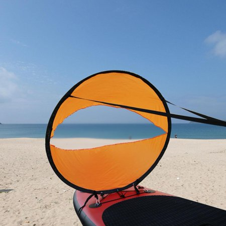 OTVIAP PVC Folding Portable Downwind Wind Paddle Popup Board Kayak Sail Kit Sailboat Accessories, Folding Downwind Wind Paddle, Kayak Wind Sail Folding Kayak Review
