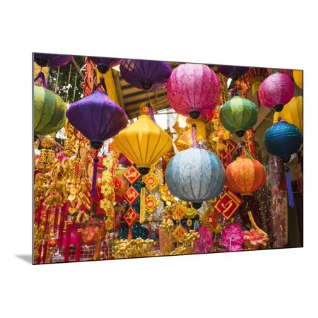 Vietnam, Hanoi. Tet Lunar New Year, Holiday Decorations for Sale Wood Mounted Print Wall Art By Walter - Lunar New Year Decorations