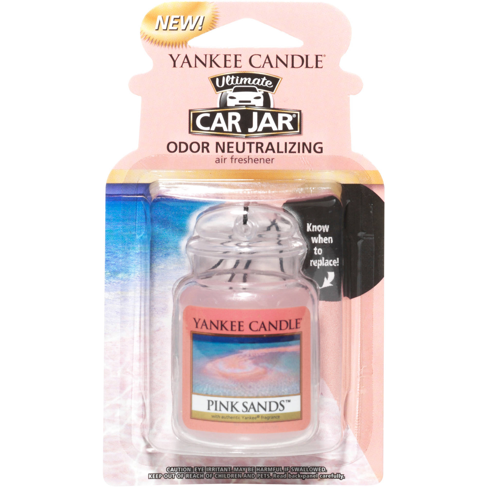 Yankee Candle Ultimate Car Jar Pink Sands Air Freshener - Walmart.com