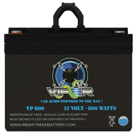 Viper VP-800 12V 800 Watt Car Audio High Current Power Cell / Battery Powercell Car Battery