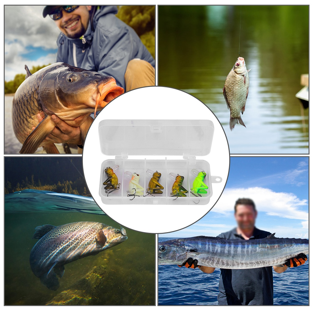 Details about  /5Pcs Bait With Treble Hook Insect Fish Bait Insect Fishing Bait For Luring Fish