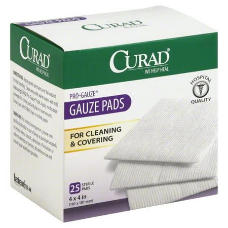 curad large gauze pads 25 0 ct walmart com