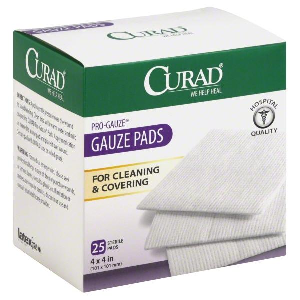 CURAD Large Gauze Pads, 25.0 CT