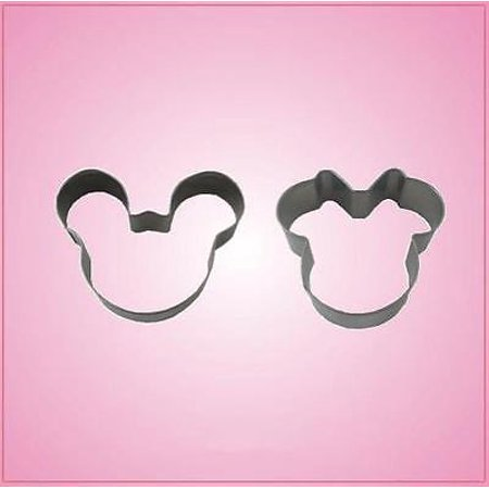 Mini Mickey and Minnie Mouse Cookie Cutter Set - Mickey Mouse Cookie Cutter Set