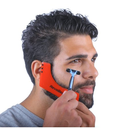 RevoBeard Beard Styling Template/Stencil for Men - Lightweight and Flexible - One Size Fits All - Curve Cut, Step Cut, Neckline & Goatee Beard Shaping Tool](Halloween Stencil Shapes)