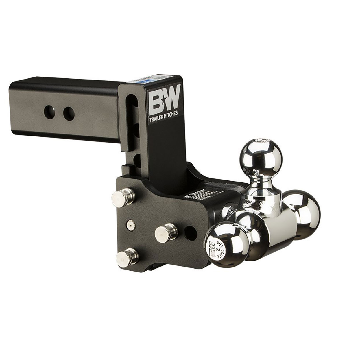 B&W TS20048B Tow and Stow 2.5 Inch Shank Tri Ball Hitch Mount with 5 Inch Drop by B%26W Hitch