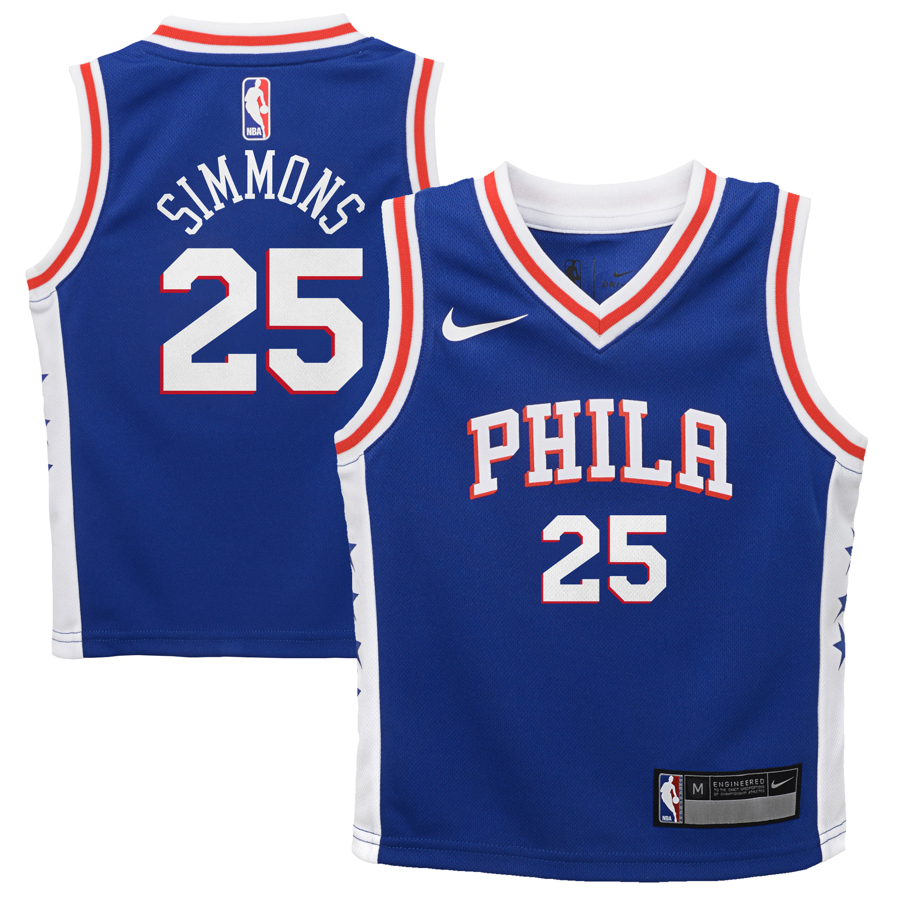 Ben Simmons Philadelphia 76ers Nike Preschool Replica Jersey Blue - Icon Edition