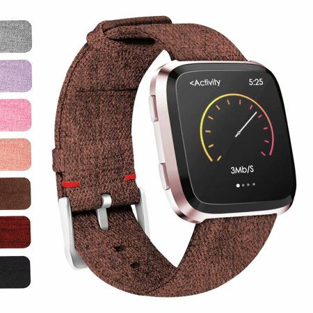 IGK For Fitbit Versa Bands Woven Fabric Wrist Strap Adjustable Replacement  Band for Fitbit Versa Fitness Smart Watch Women Men