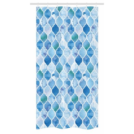 Moroccan Stall Shower Curtain, Oriental Arabic Mosaic Pattern in ...
