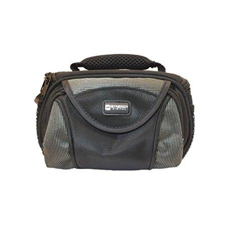 Jvc Camera Bag - JVC GZ-EX355 Camcorder Case Camcorder and Digital Camera Case - Carry Handle & Adjustable Shoulder Strap - Black / Grey - Replacement by Synergy
