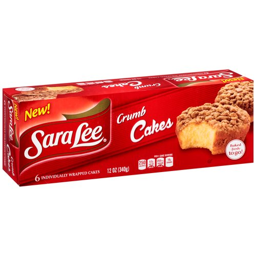 Sara Lee Crumb Cakes, 6 count, 12 oz