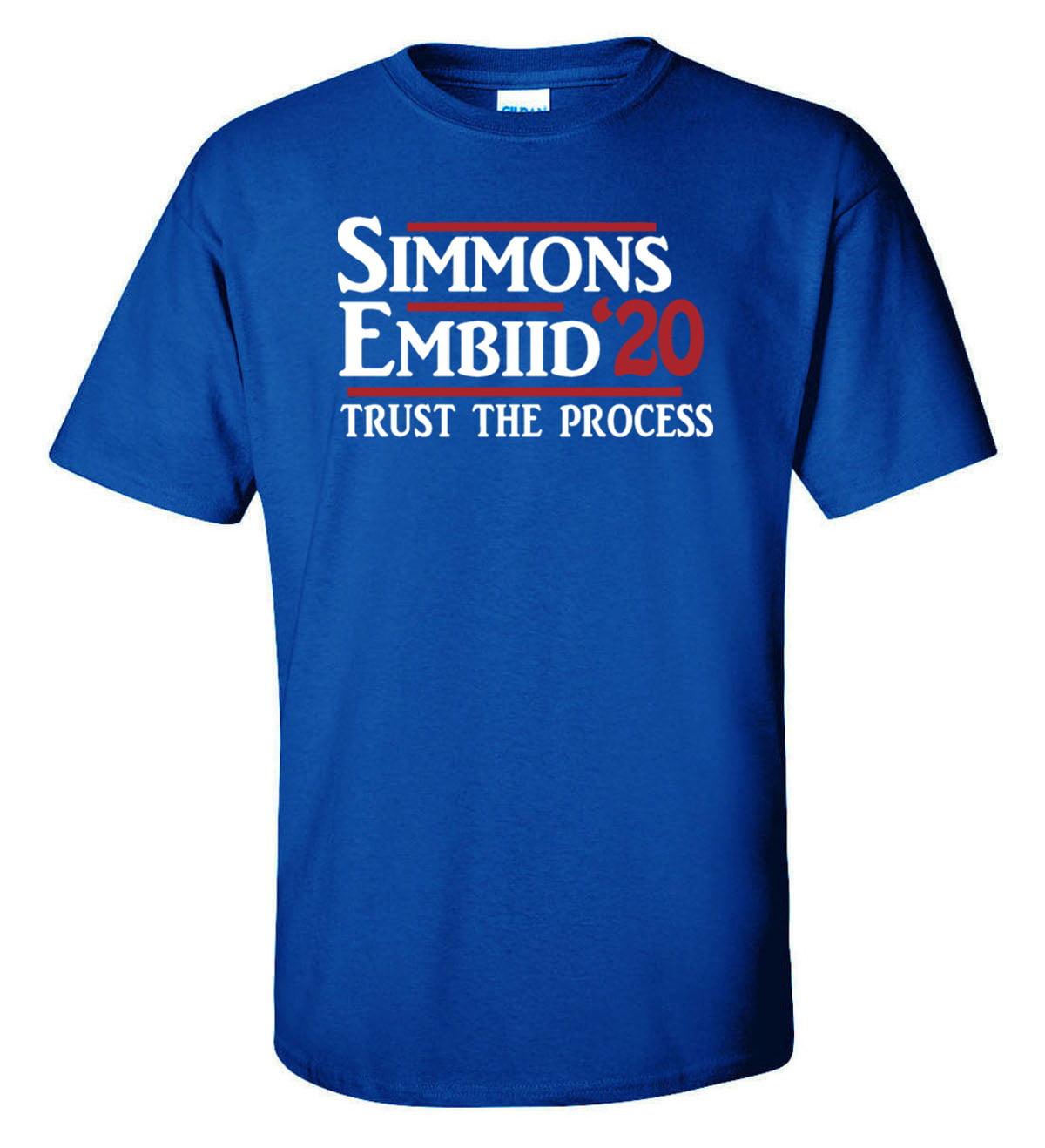 "Shedd Shirts Blue Joel Embiid Ben Simmons Philadelphia 76ers ""2020"" Youth X-Large T-Shirt"
