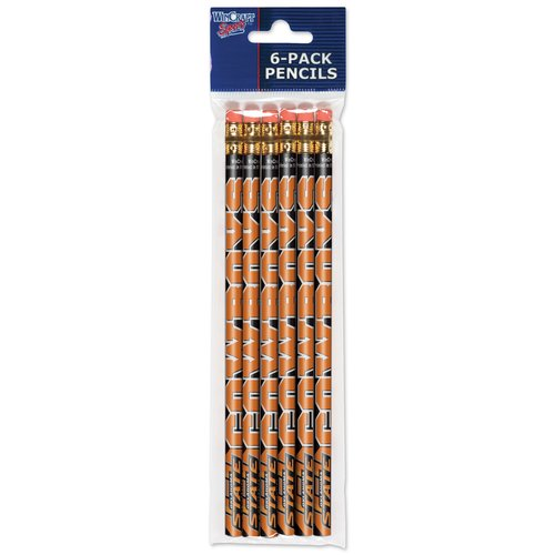 American Logo Products Oklahoma State Cowboys Pencils, 6-Pack